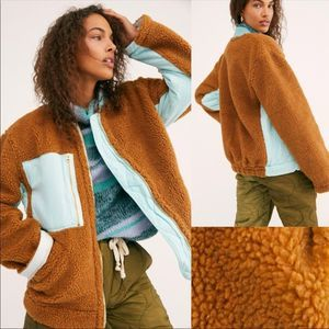 We The Free Amber Combo Sherpa Jacket. NEW